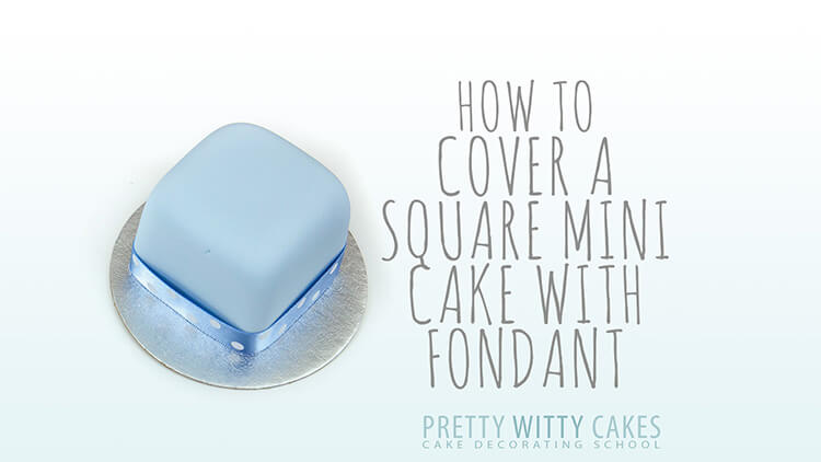 Cover a Square mini cake