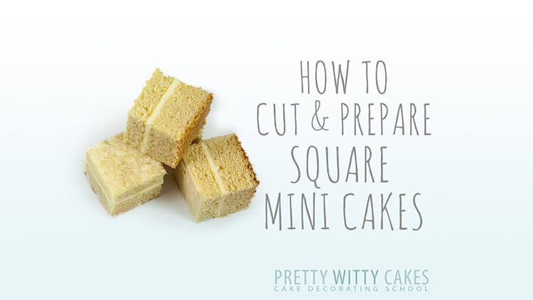 Cut and prepare mini cakes