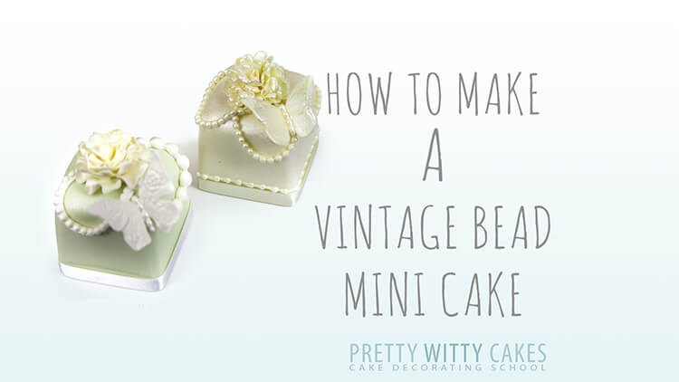How to make a vintage bead mini cake