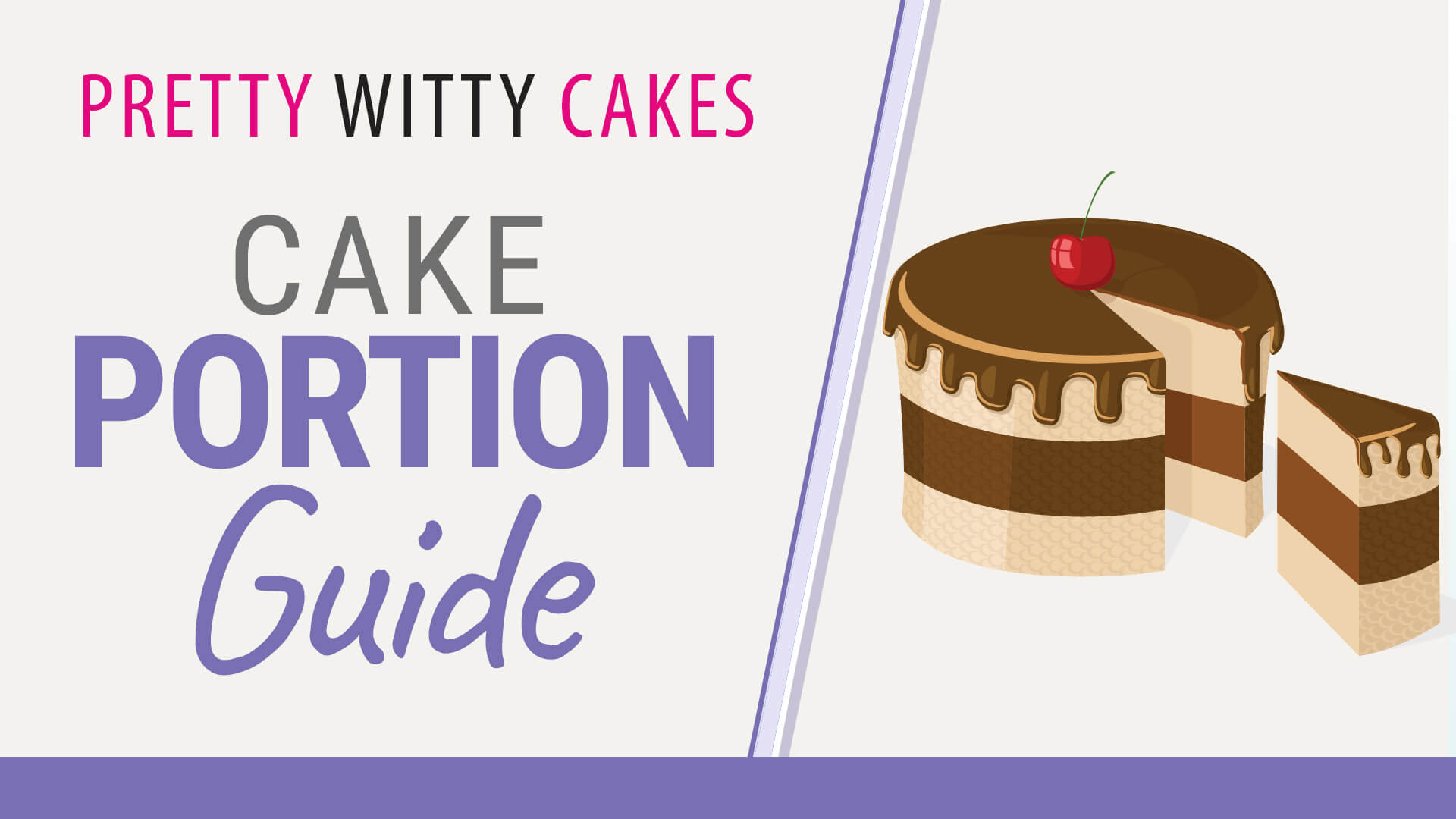 Free Cake Tutorial: Cake Portion Guide