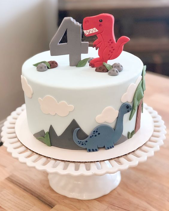 Jenna Malloy from Paints and Pans has made this wonderful cake, she is originally from New Jersey but has set up shop in New England. She makes custom bakes and cakes and started in 2018. This is a really sweet cake, perfect for a little ones birthday. Baby dinosaurs really do look cute topping this cake.