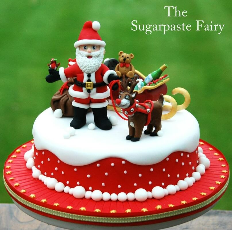 This cake is made by Jacquie from bespoke novelty cake company The Sugarpaste Fairy. And finally, this GEM. What a lovely cake with so much colour! It's perfect for Christmas and one we really love.