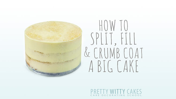 How to split, fill and crumb coat a big cake