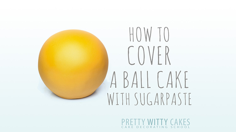 How to Cover a Ball Cake