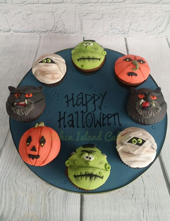 These final cupcakes were created by Shelley from Kitchen Island Cakes. She was hooked after doing a short modelling course and now creates amazing bakes from her home. Another great one for halloween, these are simple yet so effective especially where they have added googley eyes. The colours are perfect for Halloween and the flat bake on these cakes is perfect for these toppers.