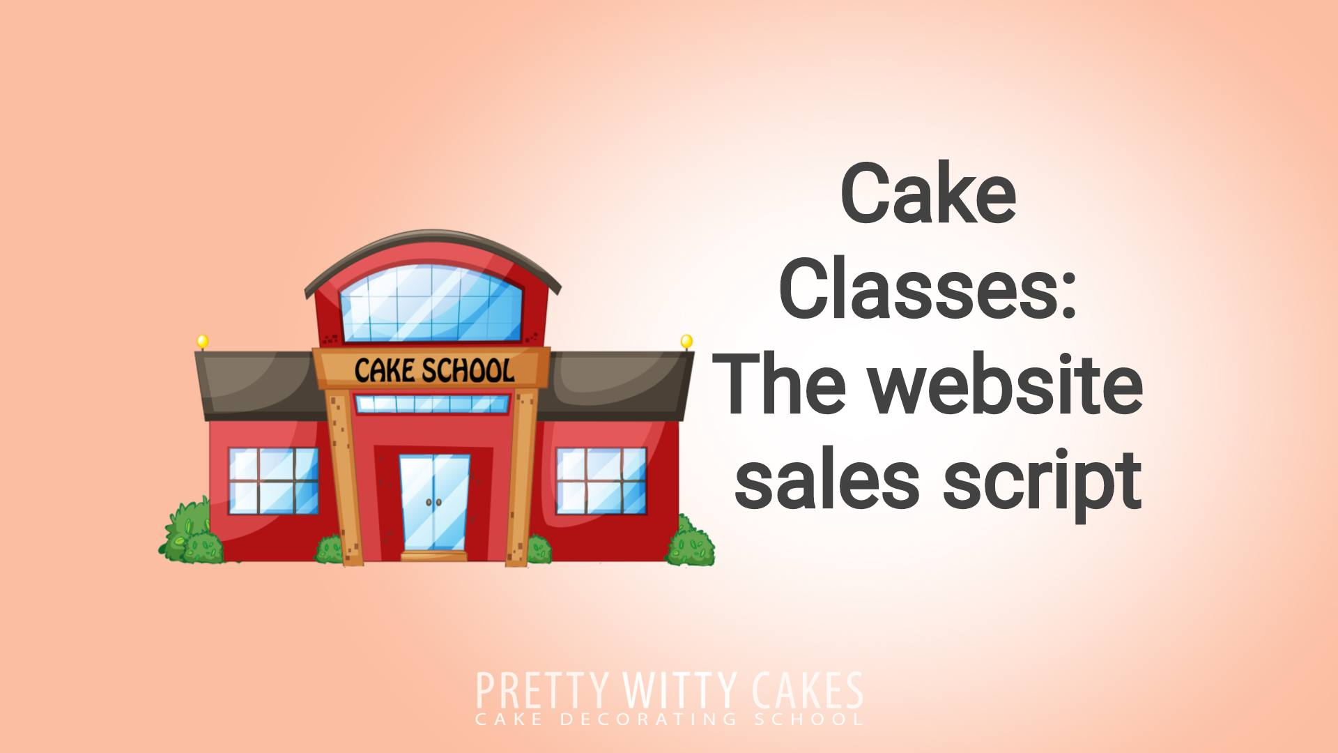 Running cake classes - what to say on your sales page