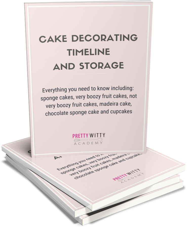 Cake Decorating timeline and storage guide