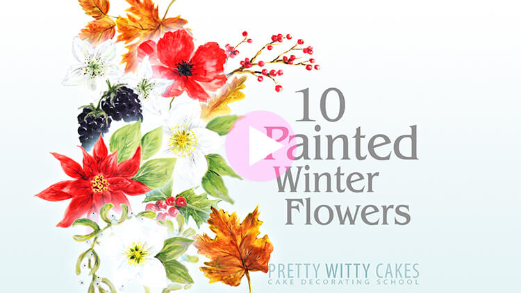 10 Winter Painted Flowers