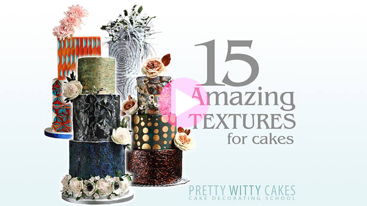 15 Amazing textures for cakes