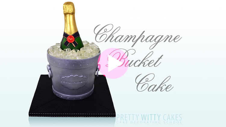 Champagne Bucket Cake