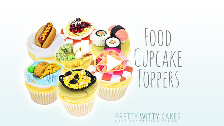 Food Cupcake Toppers