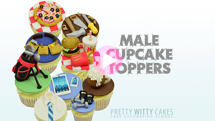 Male Cupcake Toppers