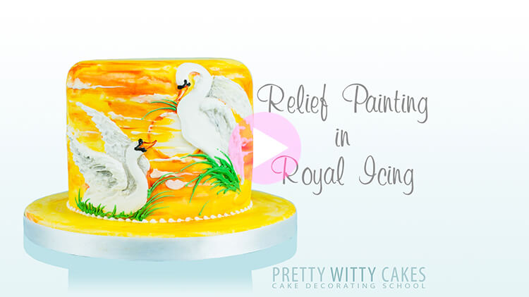 Painting with Royal Icing