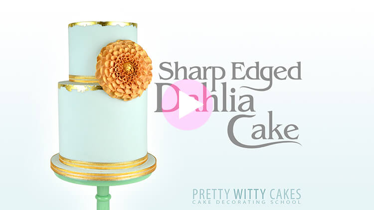 Sharp Edged Dahlia Cake