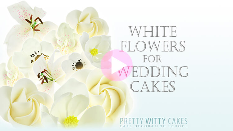 White Flowers for Wedding Cakes